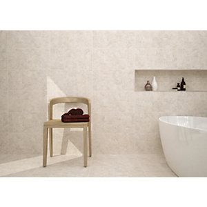 Wickes Shale Travertine Beige Ceramic Tile 600 X 300mm