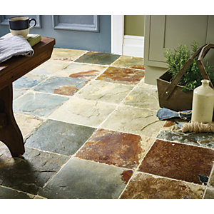 Wickes Slate Natural Stone Tile 300 x 300mm