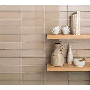 Wickes Soho Cream Ceramic Tile 300 x 100mm