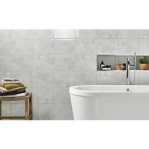 Wickes Tivoli Grey Ceramic Wall Tile 330 x 250mm