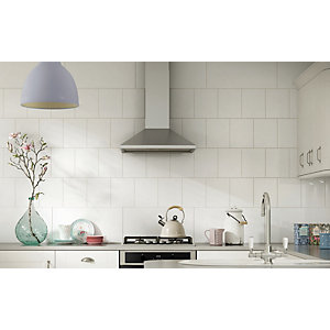 Wickes White Ceramic Wall Tile 200 x 250 mm