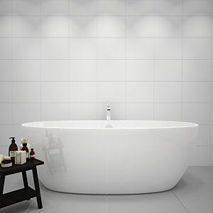 Wickes White Gloss Ceramic Wall Tile 360 x 275mm