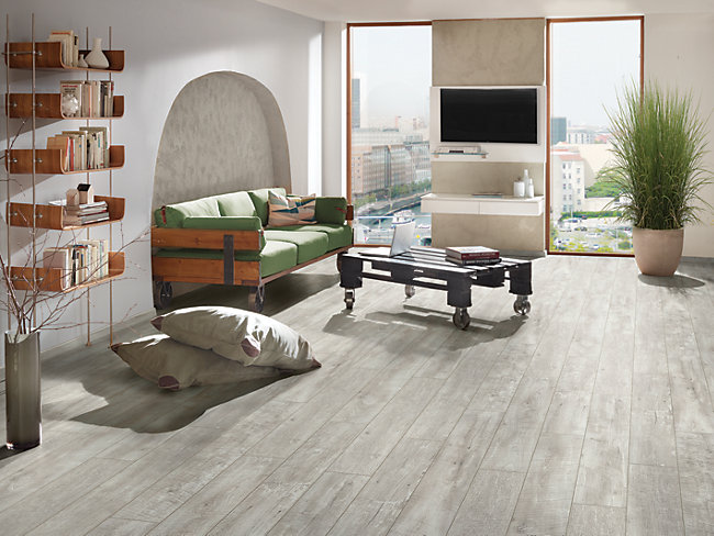 Salerno Oak Grey Laminate Flooring