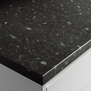 Wickes Gloss Laminate Worktop - Black Slate 600mm x 38mm x 3m