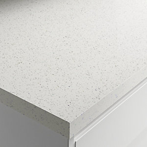 Wickes Gloss Laminate Worktop - Strasse Blanc 600mm x 38mm x 3m