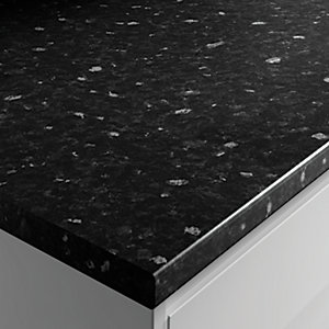 Wickes Laminate Worktop - Black Slate Effect 600mm x 38mm x 3m
