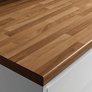 Wickes Laminate Worktop - Blocked Oak Effect 600mm x 38mm x 3m