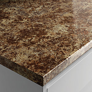 Wickes Laminate Worktop - Caribbean Gloss 600mm x 38mm x 3m