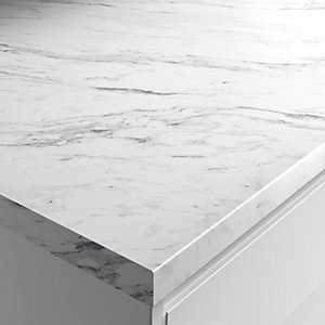 Wickes Matt Laminate Worktop - Calcutta Marble 600mm x 38mm x 3m
