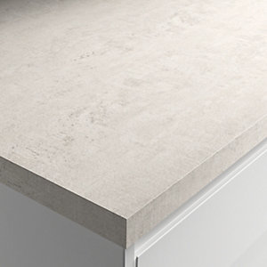 Wickes Matt Laminate Worktop - Woodstone Blanc 600mm x 38mm x 3m
