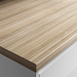 Wickes Wood Effect Laminate Worktop - Coco Bolo 600mm x 38mm x 3m