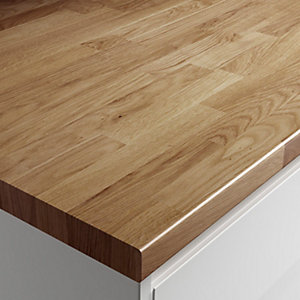 Wickes Wood Effect Laminate Worktop - Colmar Oak Effect 600mm x 38mm x 3m