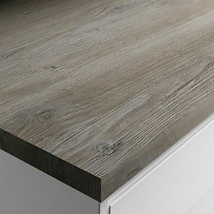 Wickes Wood Effect Laminate Worktop - Mystic Pine 600mm x 38mm x 3m