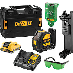 DEWALT DCE088D1G-GB 10.8V Self Levelling Cross Line Green Laser 1 x 2.0Ah