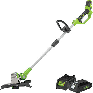 Greenworks G24LT30K2 24V Deluxe String Trimmer with 2Ah Battery and Charger NEW FOR 2019
