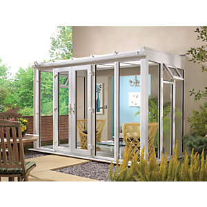 Wickes Lean To Full Glass Conservatory - 15 x 10 ft