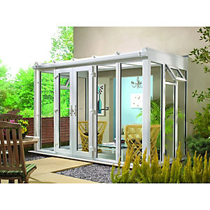 Wickes Lean To Full Glass Conservatory - 8 x 4 ft