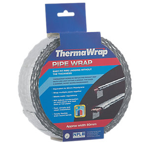 Thermawrap Spiral Foil Wrap 50mm x 7.5m