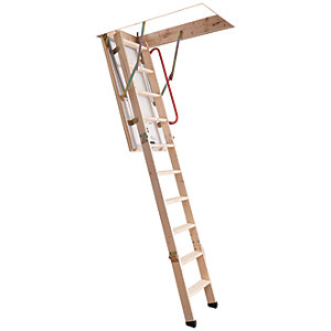 Youngman 3 Section Timber Folding Loft Ladder - Max Height 2.81m