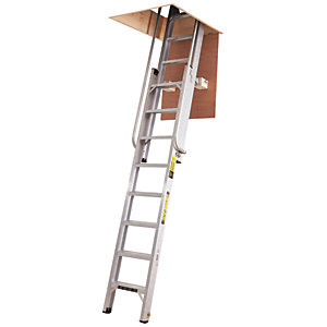 Youngman Deluxe 2 Section Aluminium Loft Ladder- Max Height 3.25m