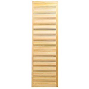 Wickes Pine Closed Internal Louvre Door - 1829mm x 610mm