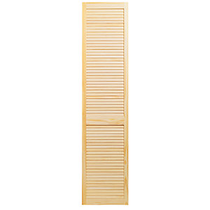 Wickes Pine Closed Internal Louvre Door - 1981mm x 457mm
