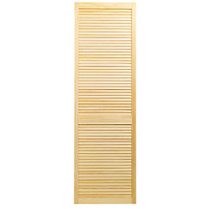 Wickes Pine Closed Internal Louvre Door - 1981mm x 610mm
