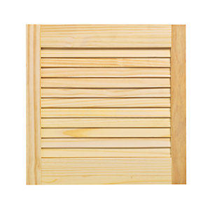 Wickes Pine Closed Internal Louvre Door   457mm X 457mm