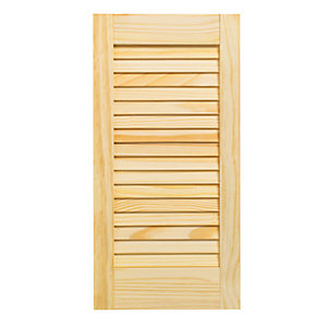 Wickes Pine Closed Internal Louvre Door - 610mm x 305mm