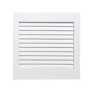 Wickes White Closed Internal Louvre Door - 457mm x 457mm