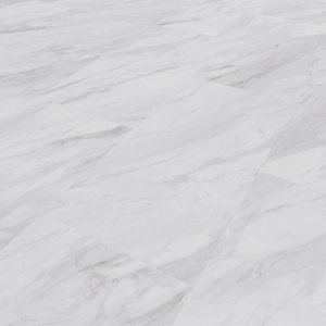Novocore Ascot Marble Effect Rigid Luxury Vinyl Flooring Tiles - 2.52m2 Pack