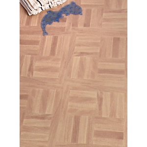 Westco Vinyl Flooring Tiles Parquet Oak 305 X 305mm 0 56m2 Pack Wickes Co Uk