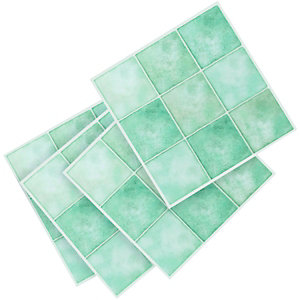 Wickes Vinyl Flooring Tiles Aqua Squares 305 X 305mm 1 02m2 Pack Co Uk