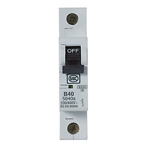 MK Miniature Circuit Breaker (MCB) Single Pole Type B - 40A 230V B40