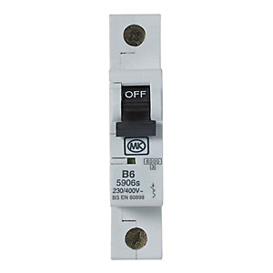 MK Miniature Circuit Breaker (MCB) Single Pole Type B - 6A 230V B6