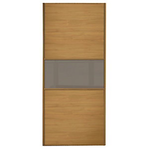 Spacepro Linear Wood Effect Frame Wideline/Fineline Sliding Wardrobe Door - Made to Measure 901-1200mm