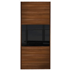 Wickes Sliding Wardrobe Door Wood Effect Frame Mirror Panel Wideline Or Fineline Custom Size 1, 550-900mm Wide