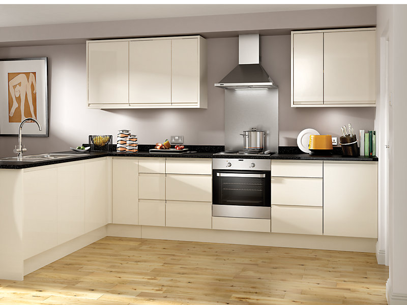 Madison Cream Ready to Fit Kitchen <br> Price based on 8 unit example*