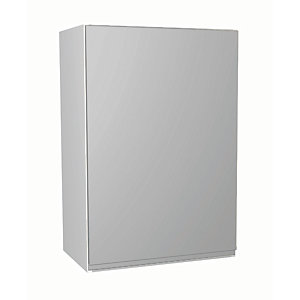 Wickes Madison Grey Gloss Handleless Wall Unit - 500mm