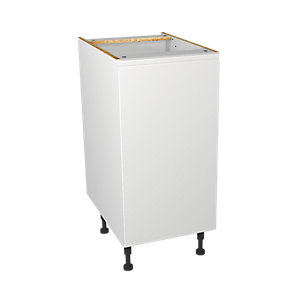 Wickes Madison White Gloss Handleless Base Unit - 400mm