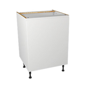Wickes Madison White Gloss Handleless Base Unit - 600mm