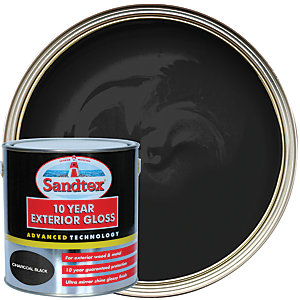 Sandtex 10 Year Exterior Gloss Paint - Charcoal Black 2.5L
