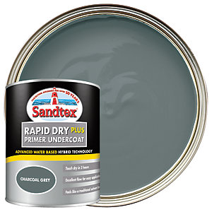 Sandtex Rapid Dry Plus Primer Undercoat Paint - Charcoal 750ml