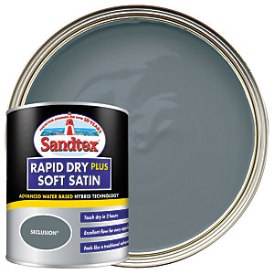 Sandtex Rapid Dry Plus Soft Satin Paint - Seclusion 750ml
