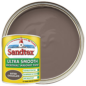 Sandtex Ultra Smooth Masonry Paint - Bitter Chocolate 1L