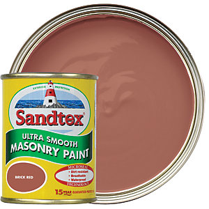 Sandtex Ultra Smooth Masonry Paint - Brick Red 150ml
