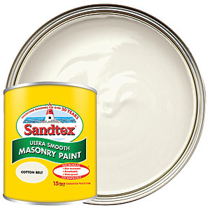 Sandtex Ultra Smooth Masonry Paint - Cotton Belt 150ml