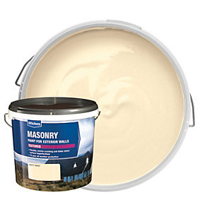 Wickes Textured Masonry Paint - Soft Sand 5L