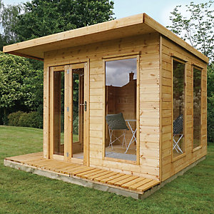 Mercia 10 x 10 ft Modern Cube Summerhouse with Bi-Fold Doors