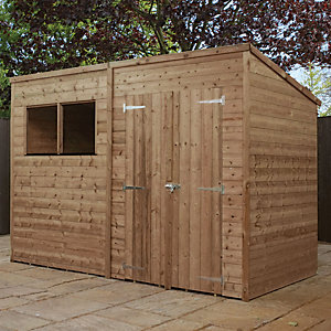 Mercia 10 x 6 ft Pressure Treated Pent Shed